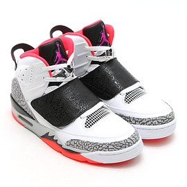 NIKE - JORDAN SON OF WHITE/FUCHSIA FLASH-BLACK-WOLF GREY