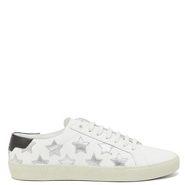 Saint Laurent - California star-appliqué leather trainers