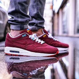 NIKE, theoze - Air Max 1 - Poor Man's Cherrywood Custom