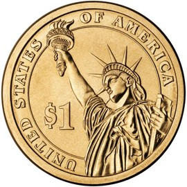 Statue of Liberty one dollar coin