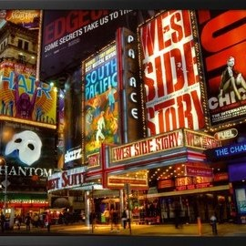 New York City Broadway Times Square Theater District Art Print Poster