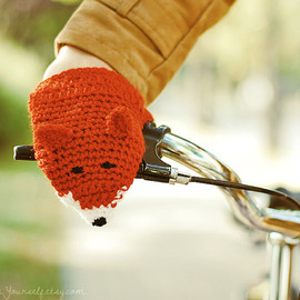 Bike Fox Hand Warmers Gloves