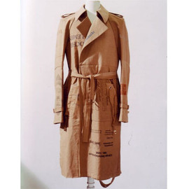 Maison Martin Margiela - Trench-coat made with Calico shopping bags