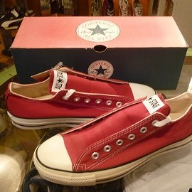 "converse - 「<deadstock>90's converse ALLSTAR OX brck red""made in USA"" W/BOX size:US8(26.5cm)10800yen」販売中"