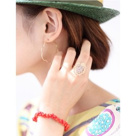 talkative by igo [トーカティブ バイ イゴ] - COLLABO-coral bracelet- RED