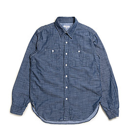 ENGINEERED GARMENTS - Work Shirt-Lt.Weight Denim-Dk.Blue