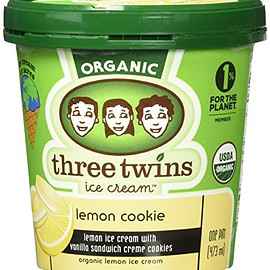 Three Twins Ice Cream - Lemon Cookie Ice Cream, 16 oz (Frozen)