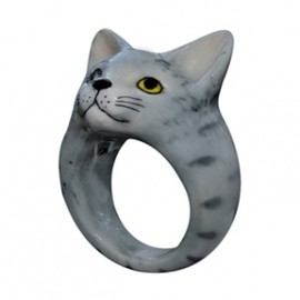 Nach Jewellery - Grey Cat Ring