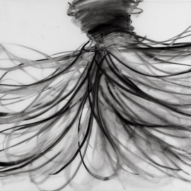 Cathy Daley - Untitled, drawing, black oil pastel