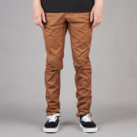 Carhartt - SID PANT CARHARTT BROWN LIGHT STONE WASHED