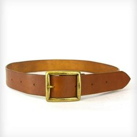 RED CLOUDS COLLECTIVE - Leather Belt with Antique Brass Buckle