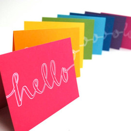 sparrownestscript - Hello Stationery in Rainbow Colors