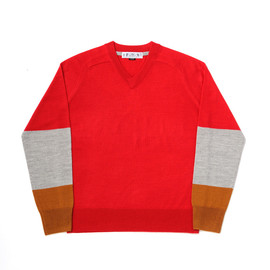 bal - TRI COLOR V-NECK SWEATER