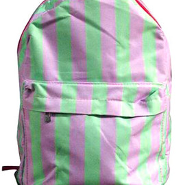 bag - Image of [grzxy6200093]Stylish Cute Vertical Stripe Print Backpack