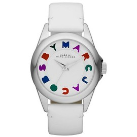 Marc by Marc Jacobs - Marc by Marc Jacobs MBM1190 Women's White Dial White Leather Bubble Patent Strap Watch