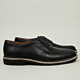 A.P.C. - Crepe Soled Derby Shoes in black