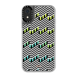 CASETIFY - BUILDINGS BY POKETO iPhone XR Neon Sand Liquid Case - Exxxtra (Green/Yellow)