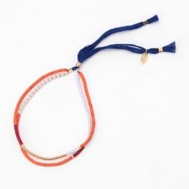 Red Cord and Gold Chain Bracelet