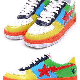 A BATHING APE - PATENT MULTI COLLEGE BAPE STA