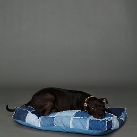Free People - フリー・ピープル(Free People)デニムドッグベッド Patched Denim Dog Bed 1