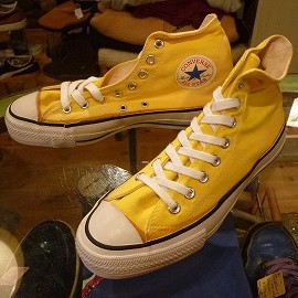 "converse - 「<deadstock>80's converse ALLSTAR HI yellow""made in USA"" size:US7/h 12800yen」完売"