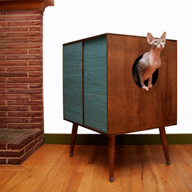 modernistcat - Litter Hideaway Circa50- the modern cat litter box cover