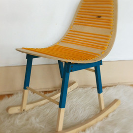 HandmadeRiot - The Charlie Childrens molded ply rocking chair