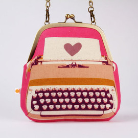 octopurse - Clutch bag - Typewriter in pink