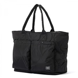 "HEAD PORTER - ""CLAYTON"" TOTE BAG (L) BLACK"