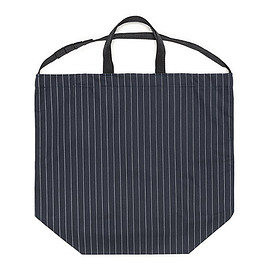 ENGINEERED GARMENTS - Carry All Tote W/Strap-H.B Gangster St.-Dk.Navy