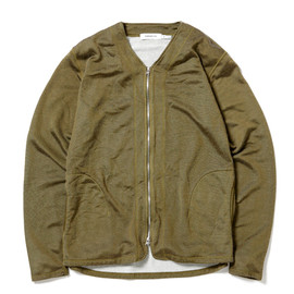 nonnative - TROOPER CARDIGAN - C/P SWEAT OVERDYED