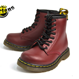 Dr. Martens - ワークブーツ(キッズ チェリーレッド)