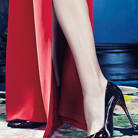 Christian Louboutin - Christian Louboutin Pigalle Follies Flecked Red Sole Pump