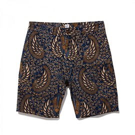 HEAD PORTER PLUS - BIG WING BATIK SHORTS BROWN