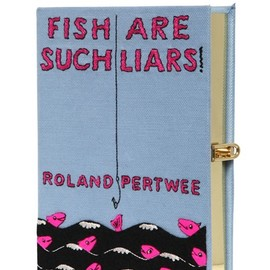 Olympia Le-Tan - FISH ARE SUCH LIARS BOOK CLUTCH