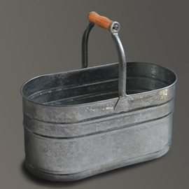labour and wait - Housekeepers Bucket Galvanised