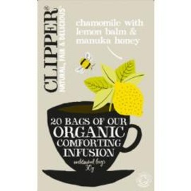 CLIPPER - ORGANIC INFUSION CHAMOMILE AND LEMON BALM WITH MANUKA HONEY