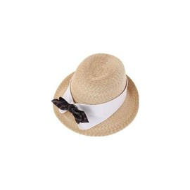 dictionary - Strow hat with collar and bow
