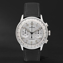 Junghans - Meister Telemeter Chronoscope Stainless Steel and Leather Watch