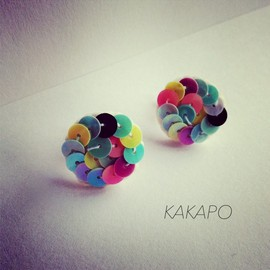 KAKAPO - Spangle earring Happy color