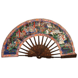 China, Cantonese Tortoise Shell Telescopic Fan, Circa 1830