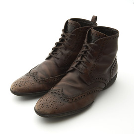 LOUIS VUITTON - Race up Leather Boots