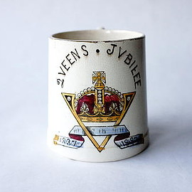 hobsons - queen victoria golden jubilee mug 1837-1887 / hobsons / england 1887 / a