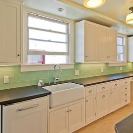 modwalls - Mint Green Lush 4x12 Surf tile kitchen backsplash