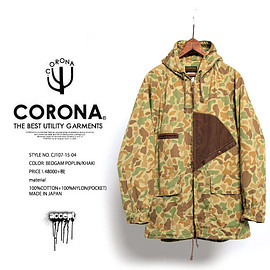 COLONA - CJ107 CORONA HUNTER HOODED COAT KHAKI【CORONA(コロナ)バク】ハンターコート Y:アクセプト accept
