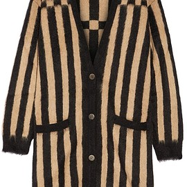 Loewe - Oversized striped jacquard-knit mohair-blend cardigan