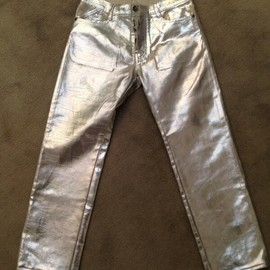 Maison Martin Margiela - silver coating 5 pocket pants