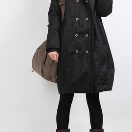 MaLieb - winter hoodie babydoll padded Long tunic Quilted Coat