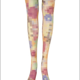ANREALAGE - LOW PIXEL PRINT TIGHTS