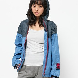 HYSTERIC GLAMOUR - TWO TONE フーデッドJK